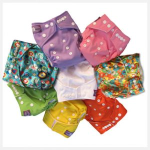 Hippybottomusstay dry nappies range