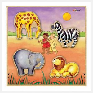 ARTIWOOD-Relief-puzzle-Safari-(Pack-of-4)
