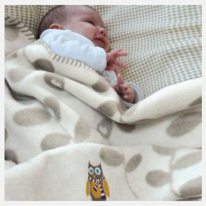 DAVID-FUSSENEGGER-bamboo-off-white-leaves-with-owl-bassinet-blanket-lifestyle-shot