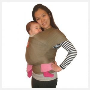Hana-Baby-Wrap-Carrier-in-Olive Organic Bamboo and Cotton