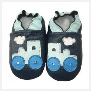 Softies-Blue-Locomotive-Soft-Sole-Shoes