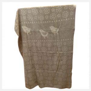 David-Fussenegger---Bamboo-Cot-Blanket-The-Birds-in-Off-White-Reverse