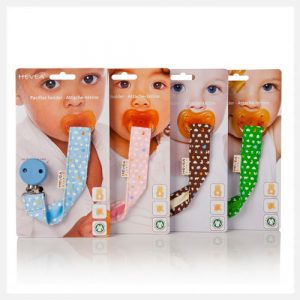 Hevea Organic Pacifier Teether Holder Retail Packaging