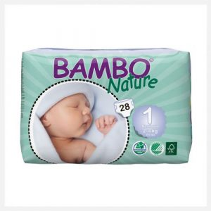 Bambo Nature Eco-Disposable-Nappies Newborn 2-4 kgs size 1