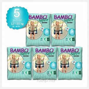 Bambo Nature - Size 5+ - Eco Disposable Training Pants - Junior Plus 12-20kgs - Bulk Buy (100 nappies)