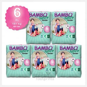Bambo Nature – Size 6+ – Eco Disposable Training Pants XL 18+kgs – Bulk Buy (90pants)