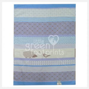 David Fusseneger - Blue Hedgehog & Bird - Lena Bassinet Blanket - Side 2