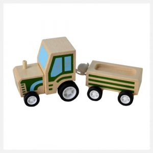 Click Clack Toys Tractor with Trailer