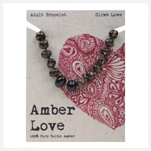 Amber Love Bracelet Olive (Adult) 20cm