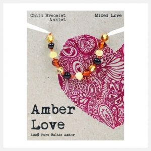 Amber Love Bracelet:Anklet Mixed (Child) 14cm