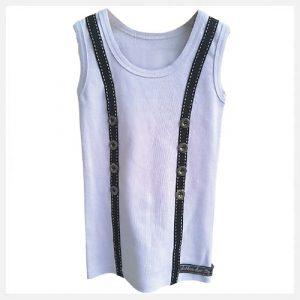 Arthur Ave Braces Vest Black