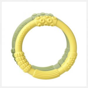 Lifefactory Teether Dual Pack in Yellow Spring Green