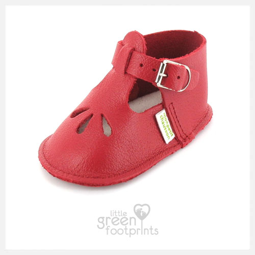 Mon Petit Chausson Baby Shoes Croiseur in Red