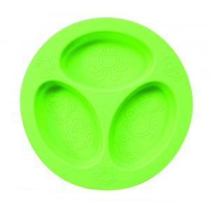 oogaa-silicone-Divided-Plate-green