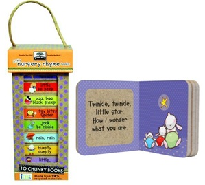 GREEN START BOOK TOWER -LITTLE NURSERY RHYMES (BOARD)