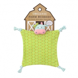 Organic Farm Buddies Belle the Cow Blankie(1)