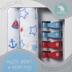 All4ella-pram-peg-muslin-wrap-set-blue-red-stars-nautical