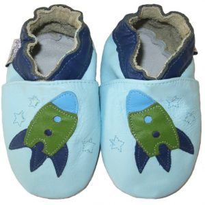 Softies-baby-booties-blue-space-ship-soft-sole-1
