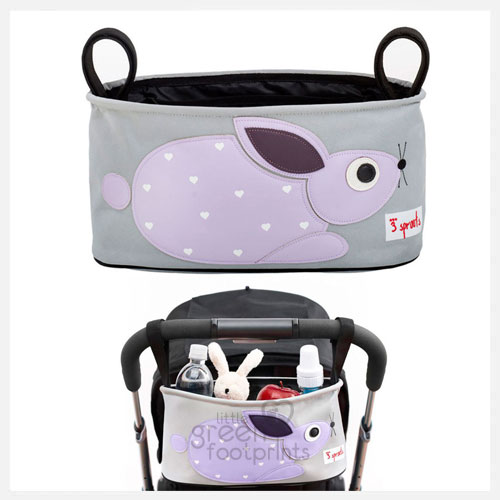 3 Sprouts – Pram Organiser – Purple Rabbit