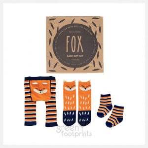 Baby Socks Gift Box Set - Fox Print