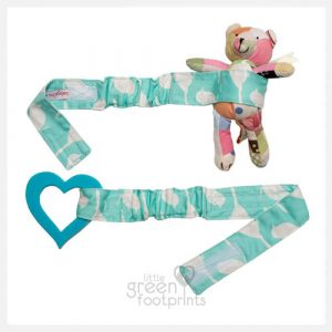 Babychic - Pram Toy Straps - Blue Bird