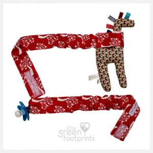 Babychic - Pram Toy Straps - Red Apple Tree.