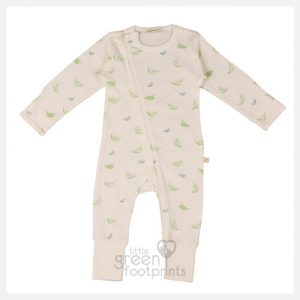 Tiny Twig Organic Cotton Zip Joysuit - Autumn Leaves