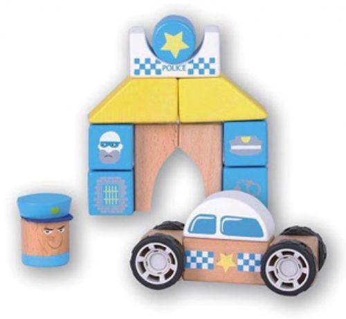 Discoveroo-snap-blocks policae car and station image