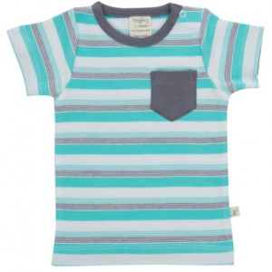 Space stripes round neck tee