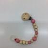 Hess-Spielzeug-Dummy/Teether-Holder-chain-pink